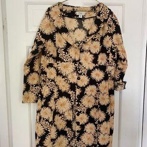 Vintage Patterned Dress Coat